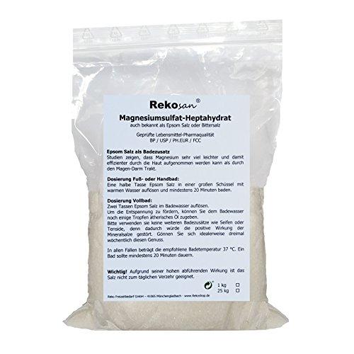 Rekosan ® Magnesiumsulfat,Bittersalz, Epsom Salz, Lebensmittel-/Pharmaqualität 1 kg