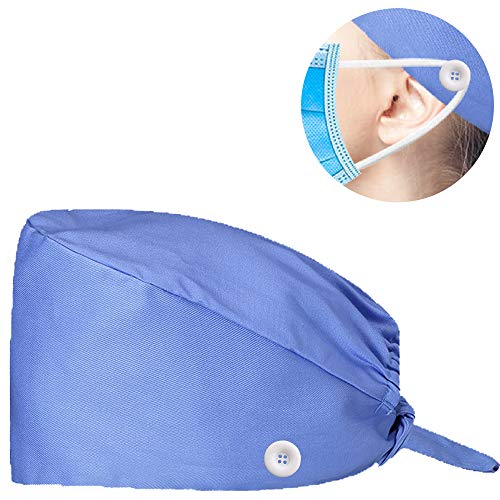 PRETYZOOM Printed Surgical Hat Adjustable Cotton Scrub Cap Unisex Medical Hat for Doctor Nurse