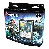 Magic The Gathering Commander Légendes - Juego de 100 Cartas Listas para Jugar, 1 Comandante Premium, Azul y Verde