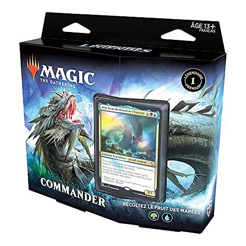 Magic The Gathering Commander Légendes : Récoltez Le Fruit des marées, Deck de 100 Cartes prêt-à-Jouer, 1 Commandant Premium, Bleu-Vert