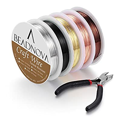 Beadnova Beading Wire for Jewelry Making Supply for Jewelry Making (5pcs, 26 Gauge)