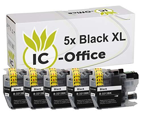 5X XL Patronen Black BK Tintenpatronen mit Chip kompatibel zu Brother LC3213 LC 3213 LC-3213-XL für Drucker DCP-J572DW DCP-J772DW DCP-J774DW MFC-J491DW MFC-J497DW MFC-J890DW MFC-J895DW