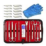 HAITOY Kit De Práctica De Sutura 22 Piezas, Kit De Sutura Quirúrgica Kit Completo De Práctica De Sutura para Estudiantes De Medicina para Entrenamiento Y Práctica