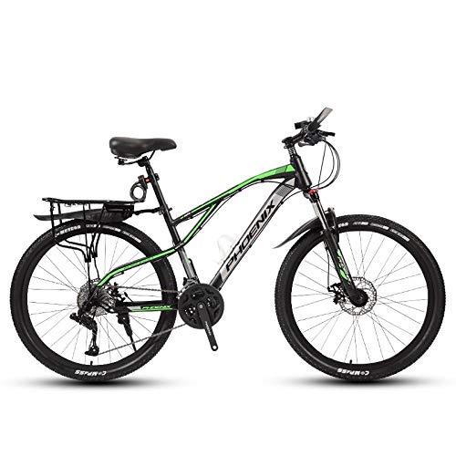 DGAGD Rueda de radios de Bicicleta Ligera de Velocidad Variable de Bicicleta de montaña de 24 Pulgadas-Verde Oscuro_30 velocidades