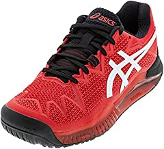 ASICS Men's Gel-Resolution 8 Tennis Shoes, 13, Electric RED/White