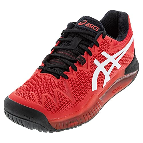 ASICS Men's Gel-Resolution 8 Tennis Shoes, 9.5, Electric RED/White