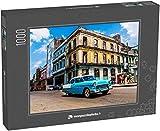 monpuzzlephoto Puzzle 1000 pièces La Havane, Cuba. Une Vieille Voiture américaine Classique dans Les Rues de Cette Ville animée
