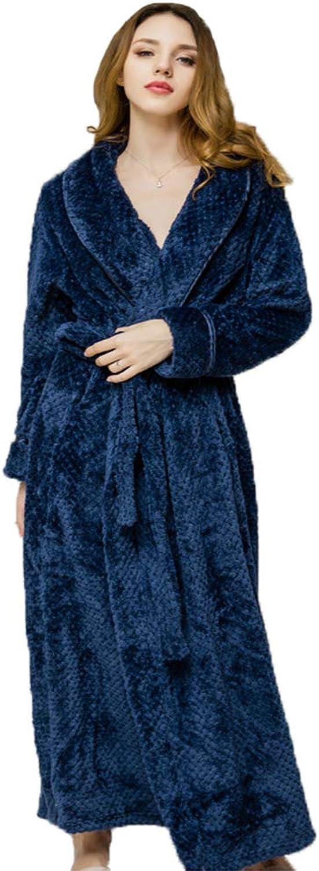 Men's Women's Bathrobe in Soft Spa Kimono Shawl Collar Long Robe Pajamas Unisex