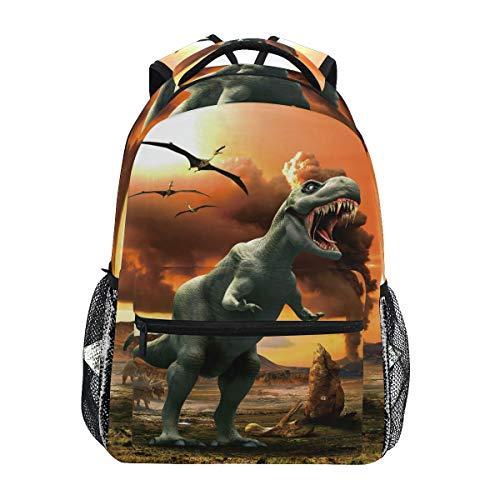 Dinosaurio Dragón Sol Mochila Escolar Impermeable Mochilas Escolares para Estudiante Adolescentes Niñas Niños