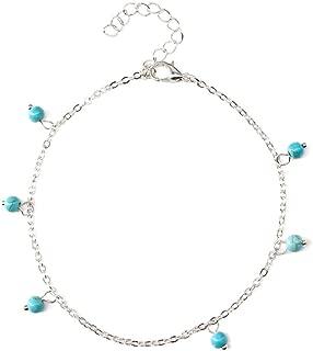 Jewelry Tassel Anklet Tassel Anklet Simple Turquoise Anklet Sexy Summer Ladies K149