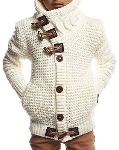 Leif Nelson kinderen jongens gebreide jas Cardigan zwarte jas voor winter winterjas overgangsjas vrijetijdsjas kinderjack lange mouwen sjaalkraag LN5585K