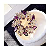 XinQing-Broche Boutonniere Pin Luxury Atmosphere Accessoires for Femmes Manteau Manteau Fashion Cardigan Pull Simple Wild (Color : B)