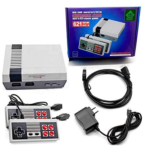 Aiboria Retro Klassische Spielekonsole Eingebautes 621-Spiel mit 2 Joysticks, Videospielkonsole und Handheld-Spielerkonsole für Familienfernsehen HDMI HD
