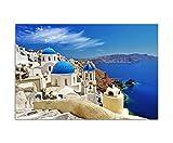 Paul Sinus Art 120x80cm - WANDBILD Santorini Dom Häuser