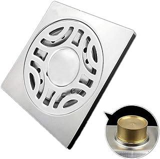 ステンレス製シャワー床排水 ステンレス鋼のバスルームの床ドレン床ドレン臭床ドレン水に強い抗目詰まり ステンレス鋼の正方形のバスルームの床ドレン (色 : ブラック, サイズ : 10 x 10 x 4.5 cm)