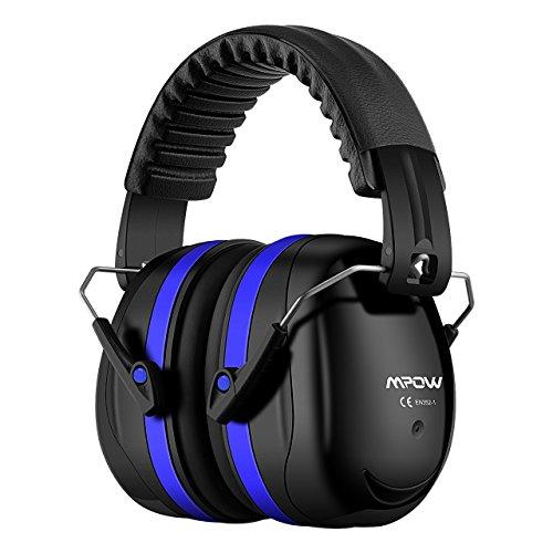 Mpow 056BD Gehörschutz Kind und Erwachsene mit SNR 34dB, Größenverstellbare Ohrenschützer mit Faltbarer Kopfbügel für Lärm bis 98dB, Lärmschutz Kopfhörer für Gehörschutz Schiessen, Gartenarbeit - Blau