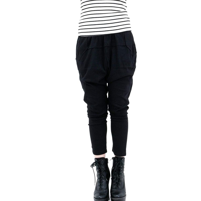 [RONDEL-BLACK(ロンデルブラック)]サルエルパンツ 美脚 ダンス衣装 無地 ボトムス 黒 ブラック