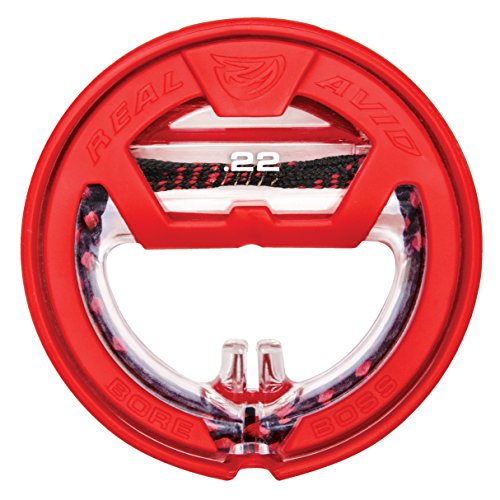 Real Avid Bore Boss .22Cal Clean Storing, Pull Through Bore Snake, Bore Cleaning System, Red
