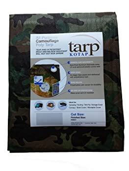 Kotap TCM-1620 All Purpose Poly Tarp Tear and UV Resistant 15 x 19-Foot Camouflage