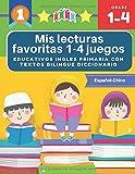 Mis lecturas favoritas 1-4 juegos educativos ingles primaria con textos bilingue diccionario Español Chino: English reading comprehension 70 ... y gramática basico para niños 5-9 años
