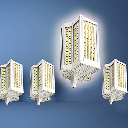 4-Pack R7s 118mm J118 Bombilla LED Blanco frío 6000K 50W Bombilla Tipo J 500W Lámpara incandescente Equivalente Luz de Doble Extremo Super Brillante Ángulo de Haz de 220 °