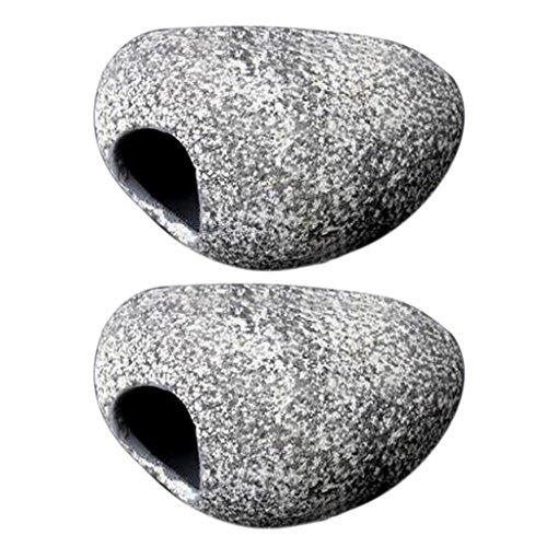 F Fityle 2 Stücke Aquarium Cichlid Stein, Harz Rock Cave Für Aquarium Teich Ornament Dekoration Garnelenzucht