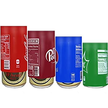 4 Pack Silicone Material Beer Cans Covers for Beers Sleeves Hide a Beer Can Disguise Funny