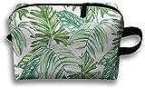 Bolsa de viaje con diseño de hojas de plátano y hojas tropicales