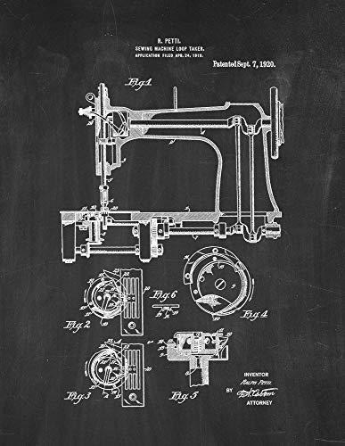 Pizarra de impresión de patente para máquina de coser (28 x 35,5 cm) M14974