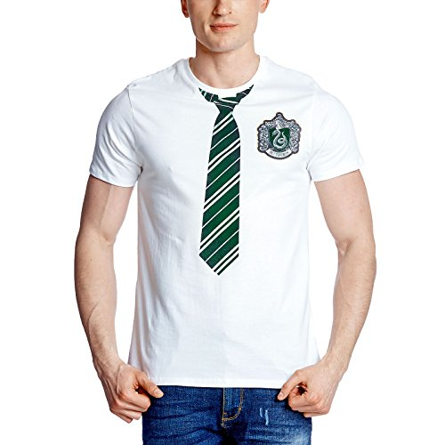 Harry Potter Herren T-Shirt Slytherin Lookalike weiß Baumwolle - M