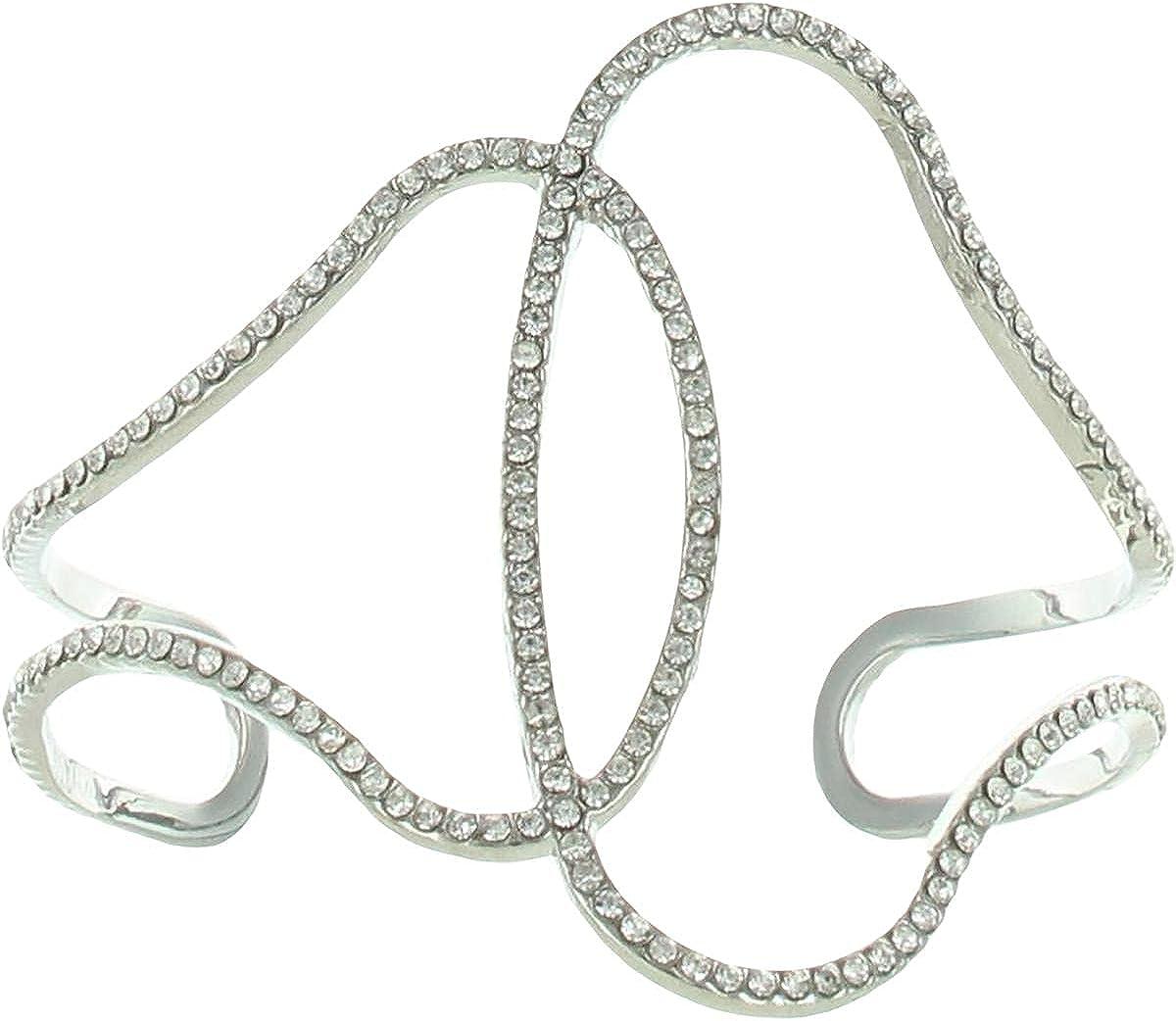 BCBGMAXAZRIA store 25% OFF Womens Imtnrhodim Cubic Zirconia Cuff Twisted Brace
