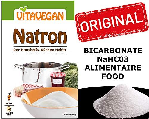 Bicarbonato Di Sodio alimenticio ecologico Formula Alimenticia (NaHC03) 20g Biovegan   Bicarbonato Di Sodio Grado Alimenticio Sin Dióxido De Azufre Sin Sulfitos Sin Aluminio- Bicarbonato Di Sodio Puro