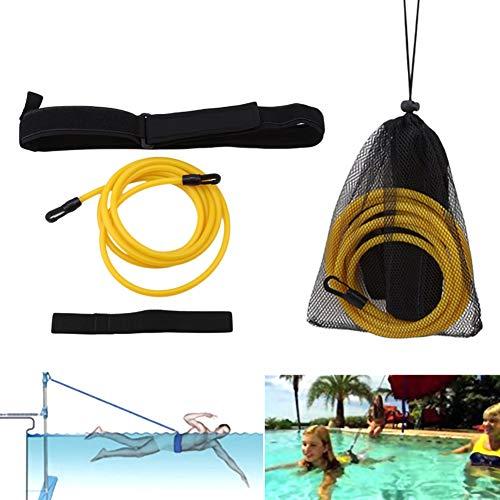 SELUXU Cinturones de Entrenamiento de natación: Amarre de natación, natación Fija, arnés de natación, cinturón de natación estático, Cuerdas elásticas de natación, Bandas de Resistencia