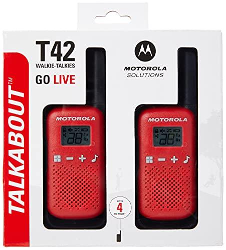 Motorola T42 RED - Walkie Talkie PMR446,...