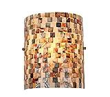 Chloe Lighting CH3CD28BC08-WS1 Shelley Mosaic 1-Light Wall Sconce, 9.8 x 8.3 x 4.1', Black