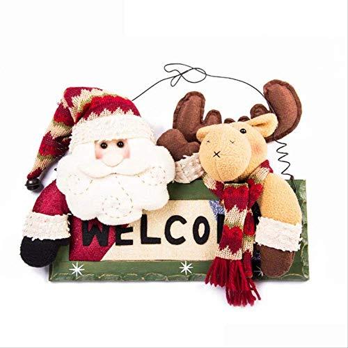 ZhuYiCheng Weihnachten Anmeldung, dekorative Handwerk, Plüsch Dekorationen, Weihnachten Anhänger Wandbehang Old Man es Moose CX10017 Tag