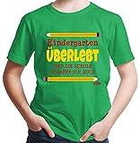 Hariz – Camiseta para niño de guardería, supervivencia, incluye tarjeta de regalo verde 10 años