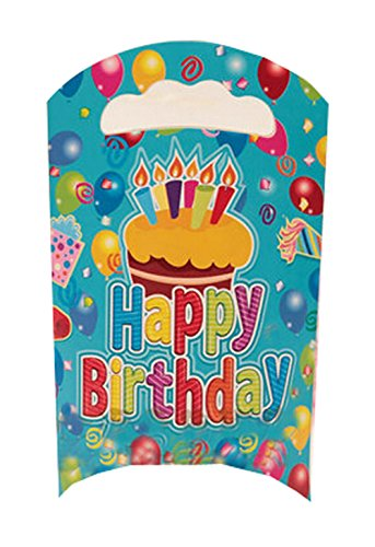 Lot de 15 sachets de fête en papier Sacs de fête pour enfants, 21,6 cm