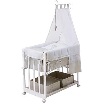 Beistellbett 3in1 Baby Bett Stubenwagen Wiege Bettchen höhenverstellbar Bettset