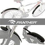 PANTHER (パンサー) スポーツ自転車フェンダー マッドガード 泥よけ 前後セット 簡単取り付け ロードバイク/クロスバイク/ファットバイク/ビーチクルーザー専用フェンダー20inch〜700C対応 (26〜700C, ロード/クロスバイク専用)