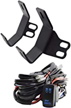 Dasen Front Side Pillar Roll Bar LED Work Light Below Windshield Mounting Brackets w/Spot Light Wiring Kit Fits 2014-2019 Polaris RZR XP 1000 Models