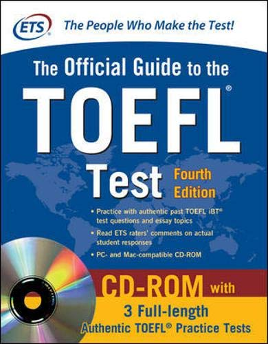 Official Guide To The TOEFL Test With CD-ROM, 4th Edition Lingua Inglese