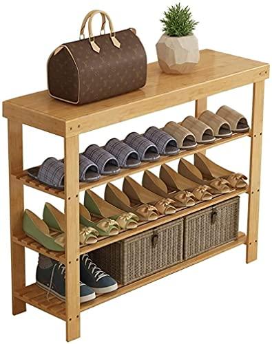 Zapatos a prueba de polvo Gabinete 3 niveles de zapato de madera maciza, gabinete de zapatos Almacenamiento Economía Dormitorio Dormitorio Conjunto de dormitorio Sala de estar Rack ( Size : 90cm )