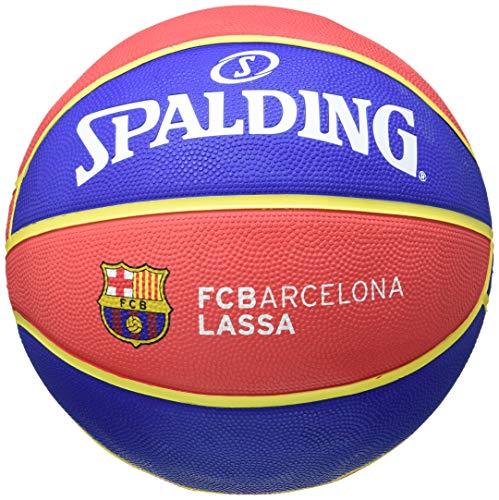 Euroleague Baloncesto Caucho Spalding FC Barcelona Replica, Rojo, Azul, Amarillo, 7
