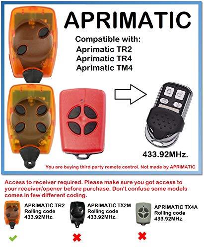 RADIOCOMANDO Telecomando Apricancello APRIMATIC TM 4 SICE 433.92MHZ 4 tasti