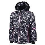 Dare 2b Vast Waterproof & Breathable High Loft Insulated Ski & Snowboard Jacket with Snowskirt and Faux Fur Hood Chaquetas aislantes Impermeables, niña, Black Energy, 11-12 años