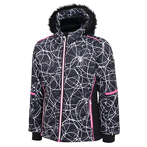 Dare 2b Girl's Elusive Waterproof and Breathable High Loft Insulated Ski and Snowboard Jacket With Faux Fur Hood and…
