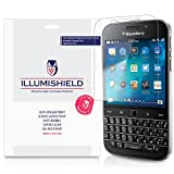 iLLumiShield Screen Protector Compatible with BlackBerry Classic Q20 (3-Pack) Clear HD Shield Anti-Bubble and Anti-Fingerprint PET Film