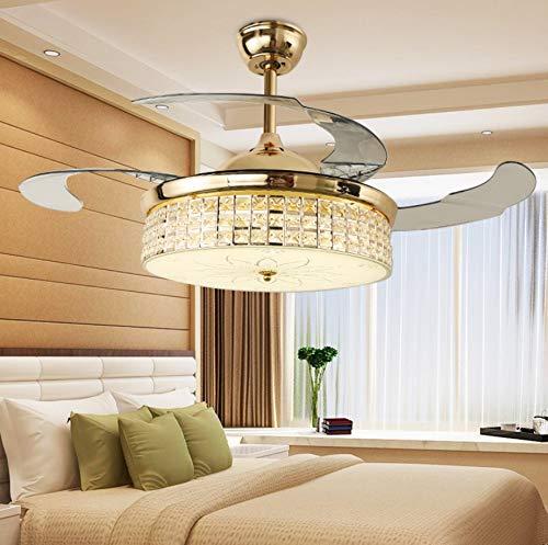 Solucky Plafondventilator, onzichtbare led-ventilatorlampen, met afstandsbediening, moderne elektrische ventilator, voor woonkamer, slaapkamer, restaurant