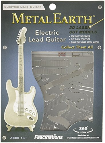 Fascinations Metal Earth MMS074 - 502730, Electric Lead Guitar, Konstruktionsspielzeug, 1 Metallplatine, ab 14 Jahren